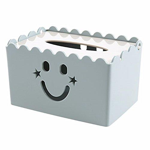 MEIYANGYANG Tissue Box Haushalt Desktop Kunststoff Couchtisch Regal Wohnzimmer Restaurant 18 * 12 * 10 Cm, Blau - Wicker Große Couchtisch