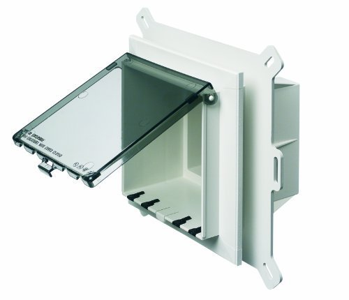 Arlington DBVS2C-1 Outdoor Electrical Box with Weatherproof Cover for Vinyl-Siding, Clear, Vertical/2-Gang by Arlington Industries -