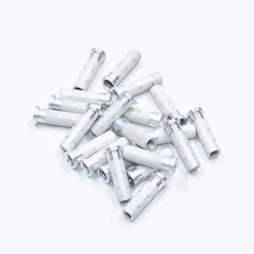 HolyWeapon 100 Stück Bogenschießen-Aluminium-Einsatz für Carbon-Pfeil-Schäfte 10 g O.D 6,2 Punkt Einsätze -