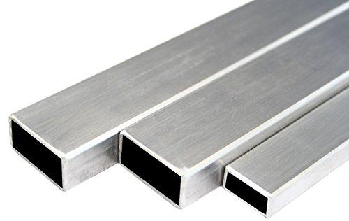 Edelstahl Rechteckrohr Vierkantrohr Konstruktionsrohr V2A Blank 60x30x2mm 1000mm