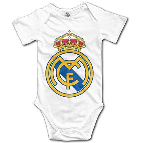 Huijiaoo Real Madrid CF Fußball Logo Kleinkind Baby Onesie Kleidung