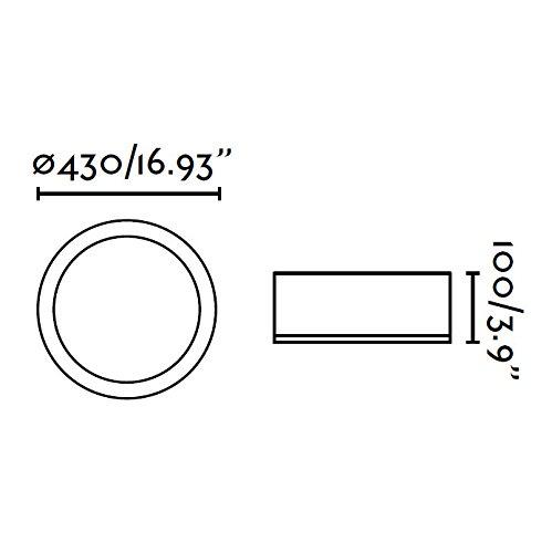 Faro-63399-KAO-LED-Lampada-plafoniera-alluminio