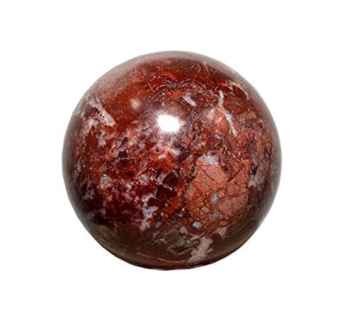 Reviheal ™ Jaspe en pierre décoré de table en boule de sphère de roche équilibrant Cristal de guérison de Reiki for