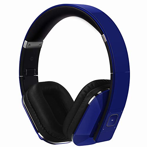 August EP650 Bluetooth v4.2 NFC Kopfhörer mit aptX Low Latency - Kabellose Over-Ear Headphones mit individuellem Sound  (Blau)