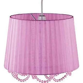 Lilac Organza Beaded Pendant Shade Amazoncouk Lighting