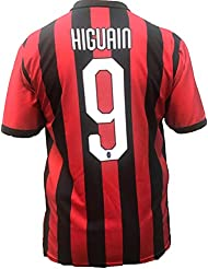 Camiseta Jersey Futbol A.C. Milan Gonzalo Higuain Replica Oficial Autorizado 2018-2019 Niños (2