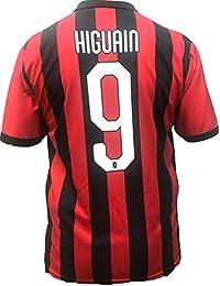 ee8db31e8d510 Camiseta Jersey Futbol A.C. Milan Gonzalo Higuain Replica Oficial  Autorizado 2018-2019 Niños (2