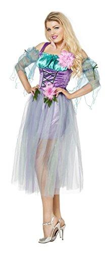 Damen Kostüm Blumenfee Fee Elfe in lila Karneval Fasching (Lila Kostüm Fee)