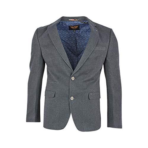 PME Legend Herren Sakko Carrier Fighter Blazer Anzug Jacke Klassisch Sportlich Regular Grau Blau, Größe:M, Farbe:Dunkelgrau