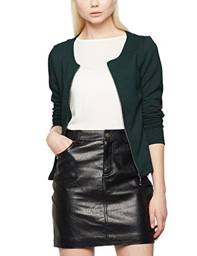 Vila Damen Blazer Vinaja New Short Jacket, Grün Pine Grove, 36 (Herstellergröße: S)