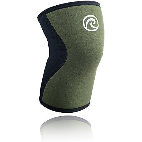 Rehband, Tutore ginocchio in neoprene, Verde (Grün), S - S & W Pianura