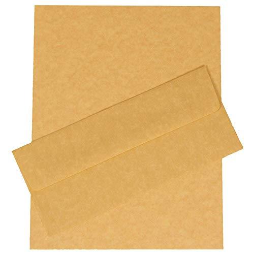 Paper Jam Kit (JAM PAPER #10 Geschäftsdrucksachen Set - 104,8 x 241,3 mm Umschläge und Passendes Briefpapier - Antikes Gold Pergament Recycelt - 100/Packung)