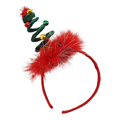 Biback Christmas Headband For Holiday Costume Party Antler Headband Hair Hoop Children's Beautiful Hair Ornaments Shiny Halloween Hairband For Adult Kids Two Colors By ()