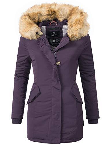 Marikoo Damen Winter Mantel Winterparka Karmaa Violett Gr. XL