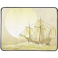 JEOLVP Cristóbal Colón Caravel Santa María Manta portátil y Plegable Manta de 60 x 78 Pulgadas