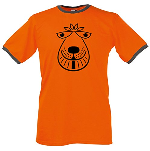 zappatee Space Hopper Ringer T Shirt - Men's Classic Retro Tee XL