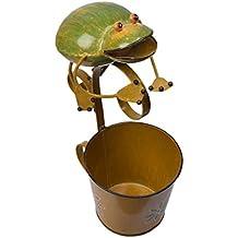 Decorative fioriera in metallo Stand con Frog Design Per Outdoor Indoor giardinaggio Decor Accessori