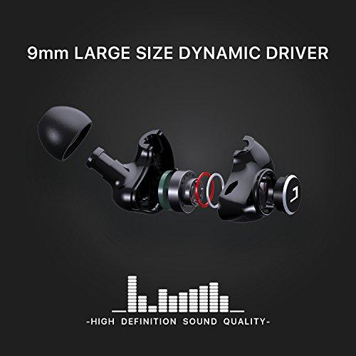 Jayfi JET-830 Geräusch-Isolierung Stereo Ohrhörer In-Ear-Kopfhörer Erinnerungsohrhaken mit Draht - 2
