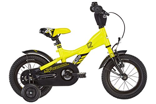 S'COOL Kinder XXlite Alloy 12 Kinderfahrrad Yellow/Black Matt Zoll