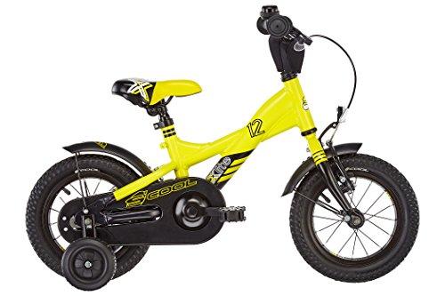 S\'COOL Kinder XXlite Alloy 12 Kinderfahrrad Yellow/Black Matt Zoll