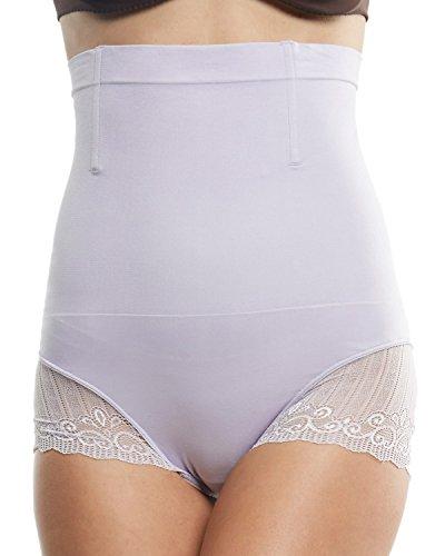 Franato Damen Shapewear Miederhose Hohe Taille Miederslip Purple
