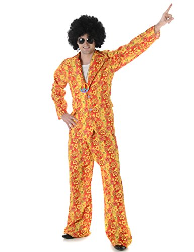 Hippie Suit Mens Fancy Dress 1960s 70s Hippy Groovy Funky Adults Costume Outfit (60s 70s Fancy Dress Kostüme)