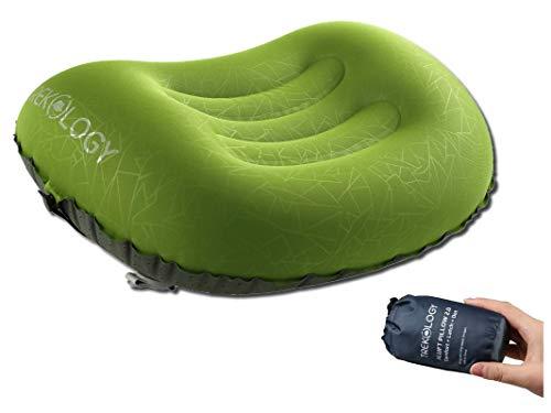 Trekology cuscino gonfiabile ultraleggero da viaggio o da campeggio-aluft 2.0 comprimibile, compatto, confortevole, ergonomico, cuscino gonfiabile per supporto al collo e lombare durante il campeggio