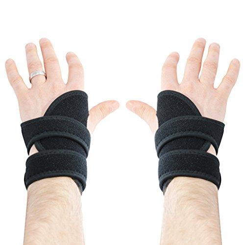2 x Einstellbare Hand Stützen, Handgelenk Bandage, Hand Stützschienen Schoner Von Kurtzy - Ideal für Karpaltunnel, Arthritis, Verstauchungen oder Zerrungen Hilft Auch Beim Training, Fahrradfahren, Kampfsport, Tennis, Motorradverletzungen (Herren Hand Recht Bekleidung)