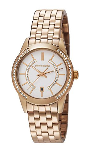 Pierre Cardin Womens Quartz Watch, Analogue Classic Display and Stainless Steel Strap PC106582F08