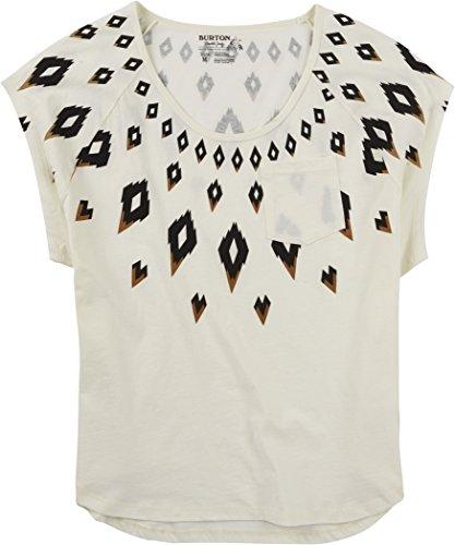 Burton Damen T-Shirt WB Fairisle Swag Short Sleeve Vanilla