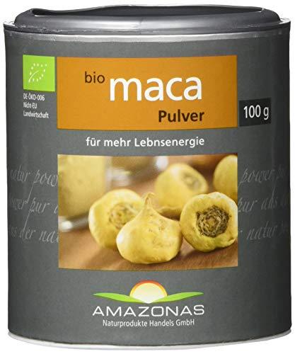 Amazonas Naturprodukte Bio Maca Pulver, In Rohkostqualität, Schonend Verarbeitet, 100 g