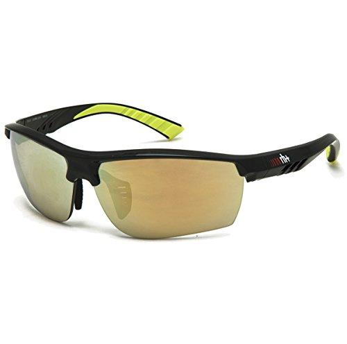 Rh++ 0rh873z 12, occhiali uomo, matt nero/fluo mirror gold, taglia unica
