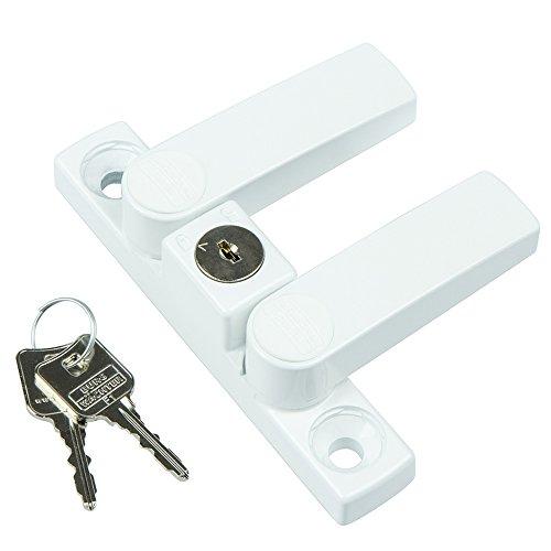 BURG-WÄCHTER Fenstersicherung mit 2 Schwenkriegeln, Für einflügelige und zweiflügelige Fenster aus Holz oder Aluminium, 2 Schlüssel, WinSafe WS 22 W SB - 3