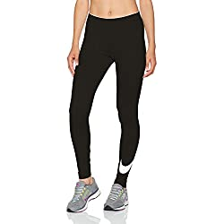 Nike Women's W Nsw Club Logo2 Club Logo 2 Leggings, Black (Black/White/010), M