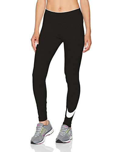 Nike W Nsw Club Logo2 815997, Leggings Donna, Multicolore (Nero/Bianco), M