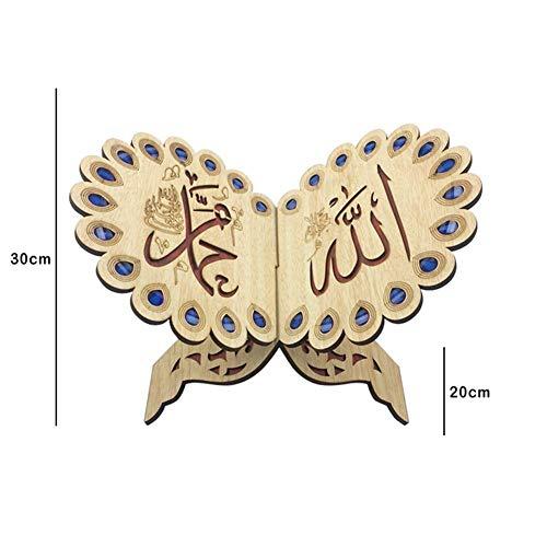 Koran Quran Ständer Koran Bücherregal aus Holz Heilige Buch Ständer Eid al-Fitr für islamische Muslim-20cmx30cm