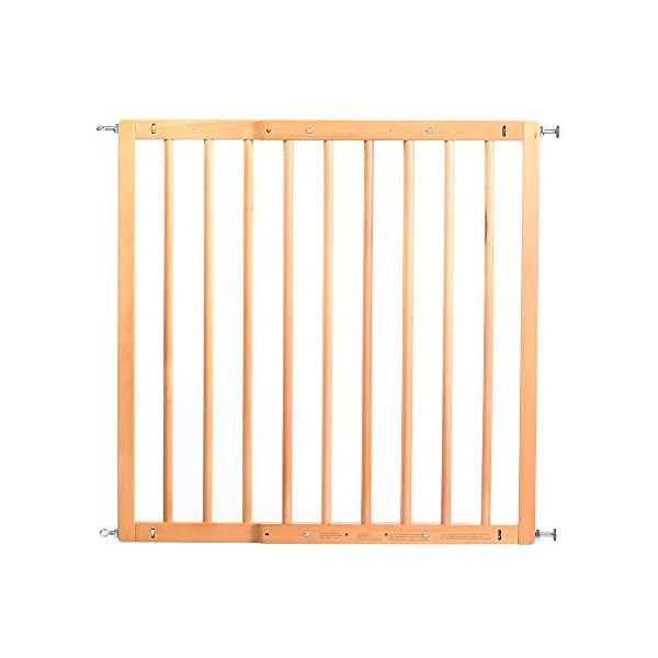 Reer Leon Wooden Stair Gate + Safety Lock 64.5 - 106 cm - Collection 2015 Reer Securing staircases and passageways with steps Stopper for limiting the opening direction Freely adapted by 4-point adjustment 4