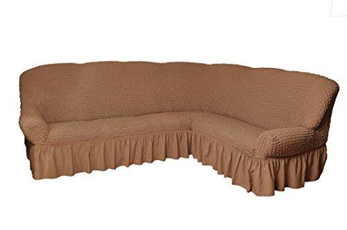 My Palace Copridivano per divano angolare, 2+ 3posti, bianco, Variante B