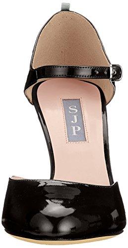 SJP by Sarah Jessica Parker Campbell, Escarpins Bride Cheville Femme Noir (Black Patent)