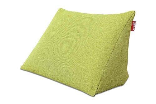 ROOMOX Cozy Lesekissen - Nacken-, Rücken und Beinkissen mit hochwertigen EPS-Styroporkügelchen, Stoff 60 x 30 x 50 cm, Limettengrün