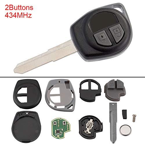 Telecomando a 2 pulsanti senza chiave con chip ID46 per Suzuki Swift SX4 Alto Jimny Vivara Ignis Splash 2007-2013 433 MHz