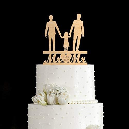 Gay Cake Topper mit Kindern, Gay Wedding Cake Topper Familie mit Kindern, Gay Cake Topper Paare mit Kindern, Mr. and Mr Topper mit Kindern, 234 Geburtstag Hochzeitstag.