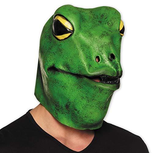 NET TOYS Frosch-Maske für Erwachsene   Grün   Tierisches Unisex-Kostüm-Zubehör Tiermaske Froschkönig geeignet für Fasching & Karneval