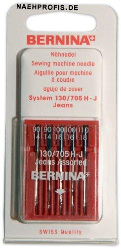 BERNINA Jeans aghi per macchina da cucire, spessore 90–110