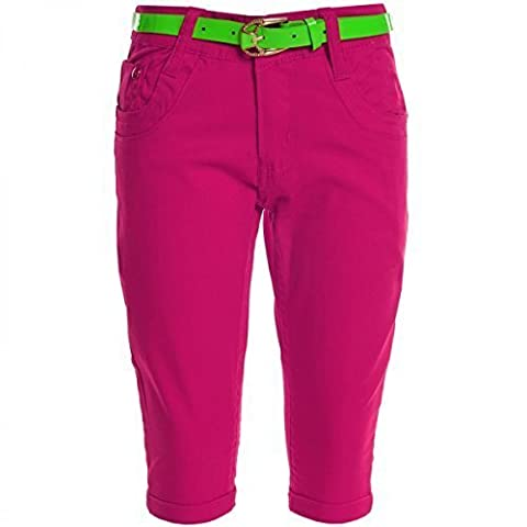 Kinder Mädchen Kurze Hose Bermuda Shorts Sommer Capri Pump Pants