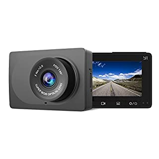 "YI Compact Dash Cam 1080P Full HD Car Dashboard Camera with 2.7"" LCD Screen, 3-Axis G-sensor, WDR Lens, Night Vision, Loop Recording - Black (B0788H78Q4) 