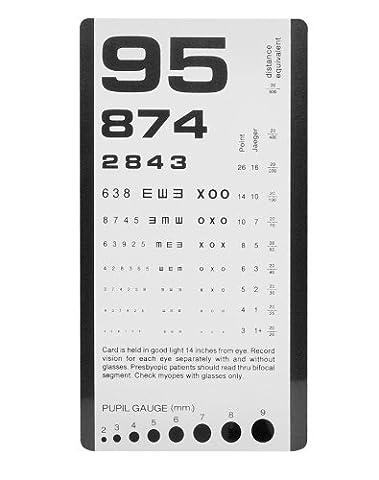 NCD Medical/Prestige Medical 3908 Pocket Eye Chart (Pocket Viewer)