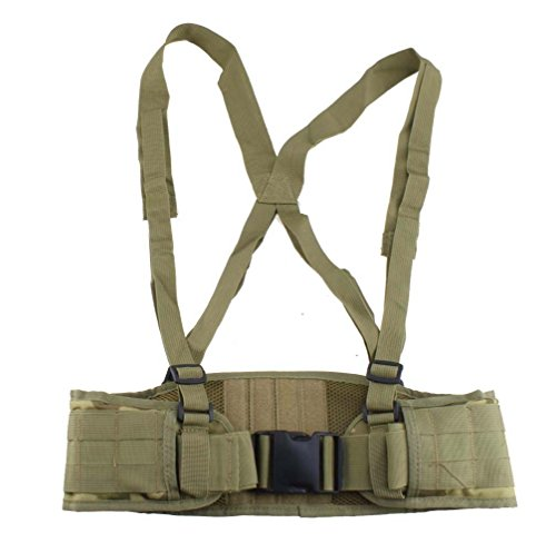 AGPTEK Military Tactical Belt Molle, Soft Padded with Strap (Camouflage) for Hunting Airsoft Paintball Sports Air