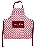 Herz & Heim® Kochschürze Rot Karo Sterneköchin mit Namen bedruckt für die beste Küchenfee und Lieblingsköchin der Welt