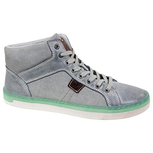FILA uomo parte Lifestyle Sneaker in pelle High Top Light Grey 6 taglia 41 grigio 41